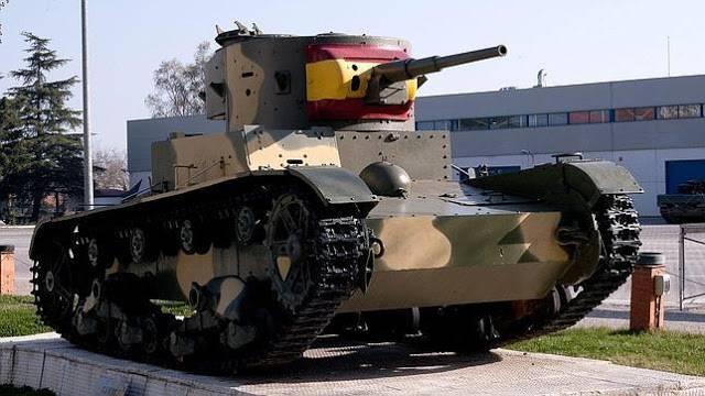 スペイン南北戦争の戦車1936  -  1938 (3の一部)