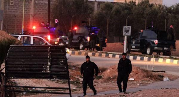 对约旦特殊服务建设的攻击。 有受害者