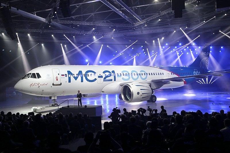Fabricantes de aeronaves Irkutsk introduziu um novo avião de passageiros MS-21