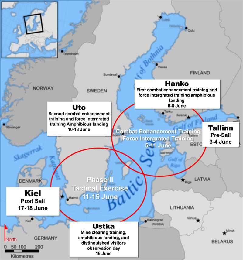 미국 전략 폭격기 B-52은 러시아 해군의 발트 함대 기지에서 수십 킬로미터 떨어진 대함 탄광 생산 연습에 참가했습니다.