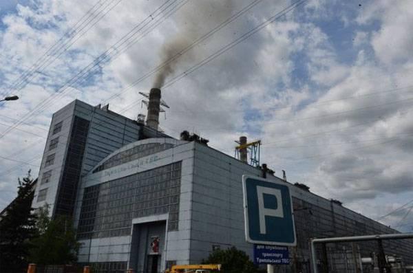 6 월 초부터 키예프 지역의 TPP에서 두 번째 비상 사태