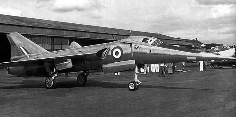 Avión de investigación por ultrasonidos Fairey Delta 2