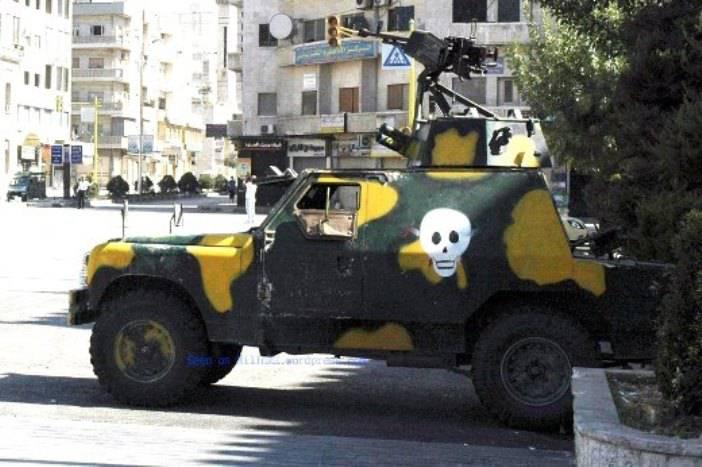 Britische Panzerfahrzeuge im Dienste syrischer Spezialeinheiten