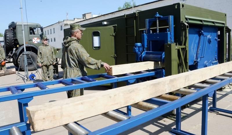 Les troupes d'ingénierie russes auront des scieries mobiles
