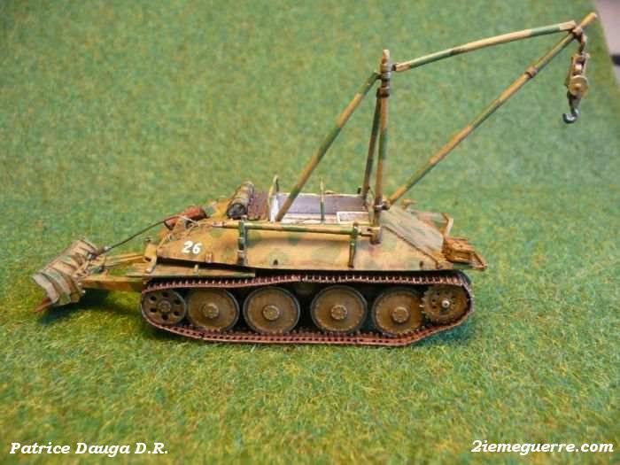 Бронированная ремонтно-эвакуационная машина Bergepanzer 38(t), Германия