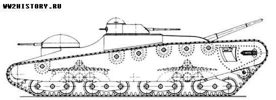 Танк Сиркена: проект тяжёлого танка прорыва