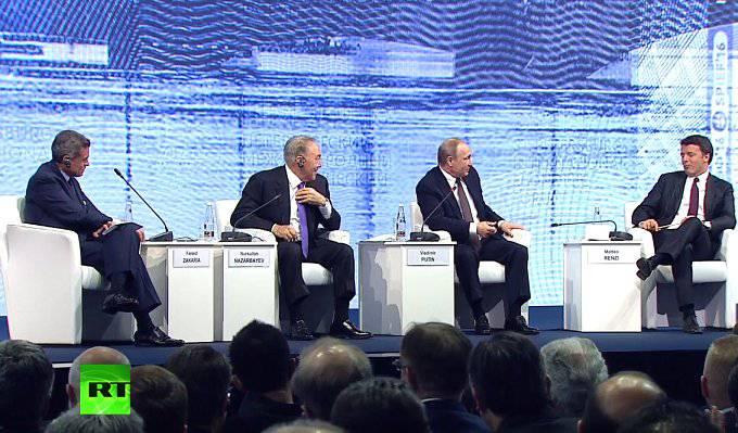 Некоторые выдержки из выступления президента России Владимира Путина на ПМЭФ-2016