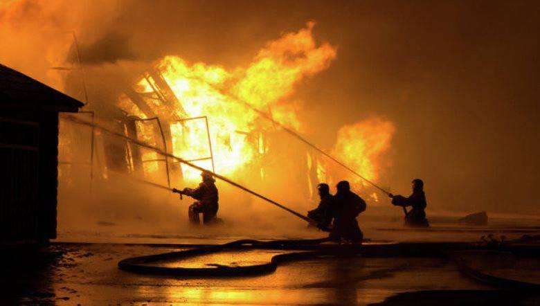 На полигоне Ашулук произошёл пожар, вызванный возгоранием ракетного двигателя
