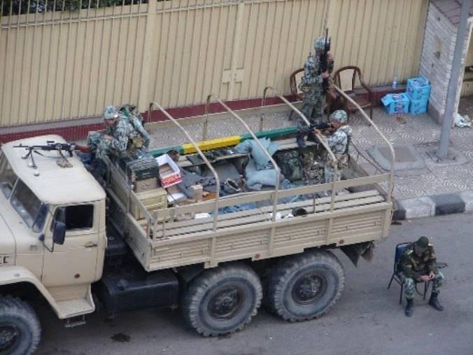 Автомобили «Урал» в египетской армии