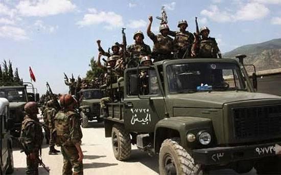 Об успехе сирийской правительственной армии в провинциях Сувейда и Хомс и отступлении в провинции Ракка