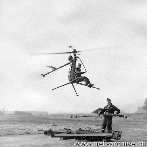 Hiller ROE Rotorcycle: сверхлёгкий одноместный вертолёт