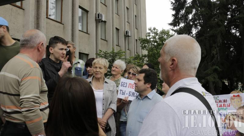 Савченко разочаровала украинских радикалов призывом прекратить войну в Донбассе и начать восстанавливать Украину