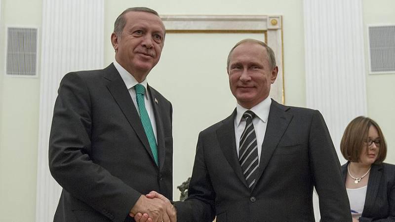 Президенты России и Турции договорились о личной встрече