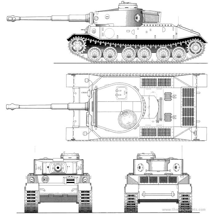 Тяжелый танк Porsche VK 4501(P), Германия