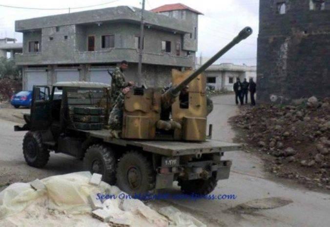 СМИ: вертолёт МИ-25 в Сирии могли сбить из орудия С-60