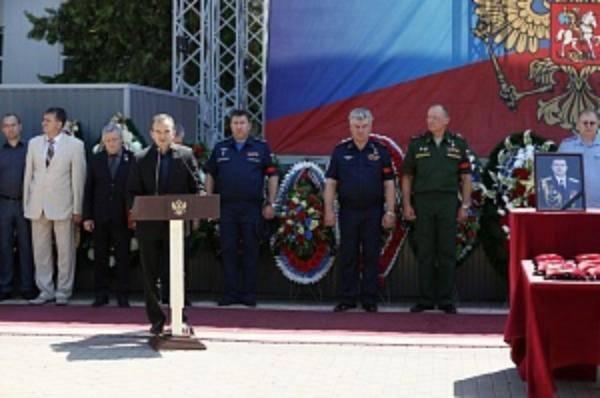 Церемонии прощания с погибшими в Сирии российскими лётчиками