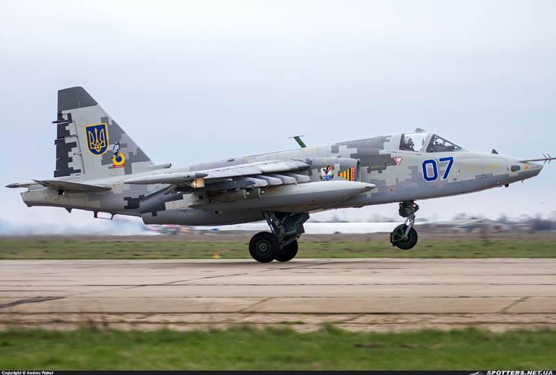 В Хмельницкой области загорелся Су-25 ВВС Украины