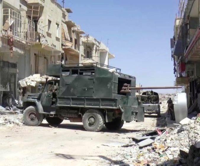 В Сирии замечена новая самоходка кустарного производства