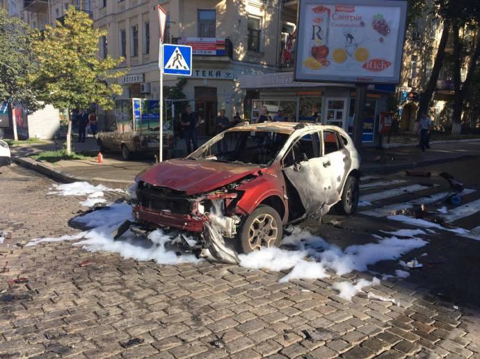 In Kiev, a journalist Pavel Sheremet died in a car bombing