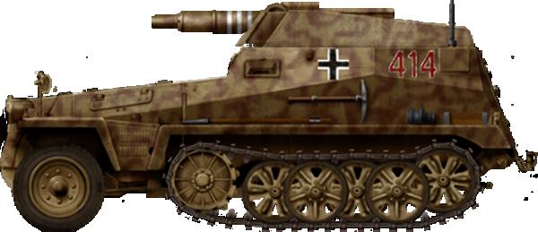 स्व-चालित तोपखाने की स्थापना Sd.Kfz.250 / 8 (जर्मनी)