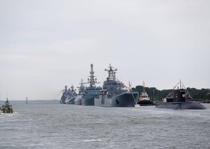 A formação do desfile de formação de navios começou na Frota do Báltico