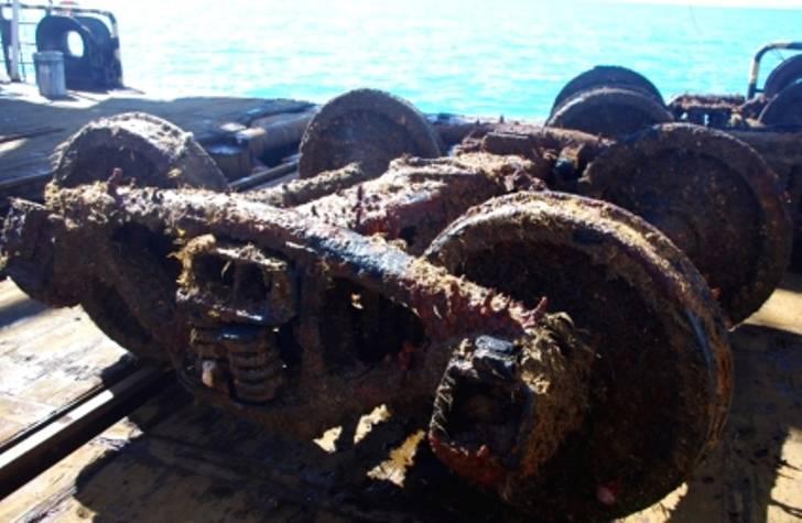 Со дна Баренцева моря поднят американский паровоз времён Второй мировой