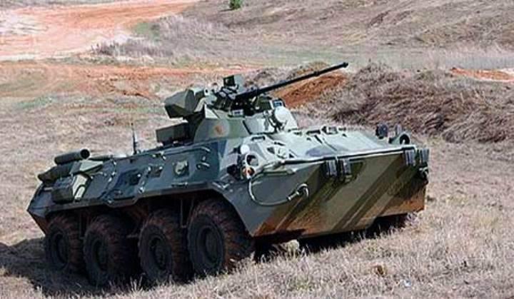 Российские военные впервые использовали БТР-82А на учении в Таджикистане