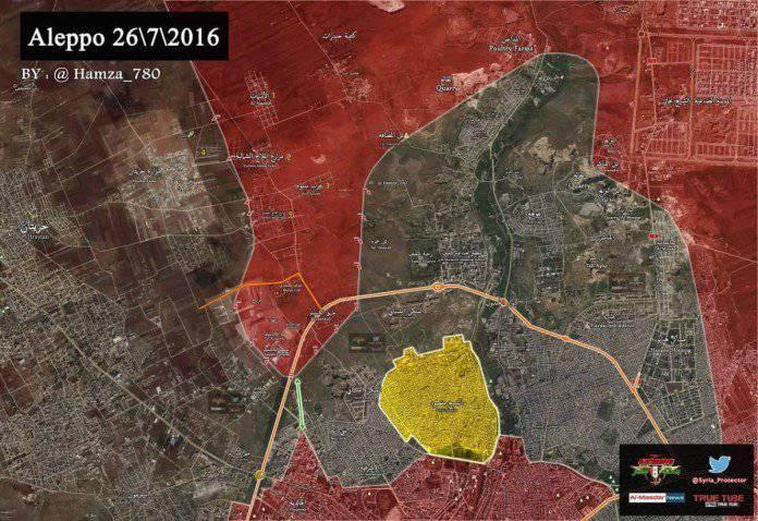 Сирийская армия взяла в окружение в Алеппо крупную группировку боевиков