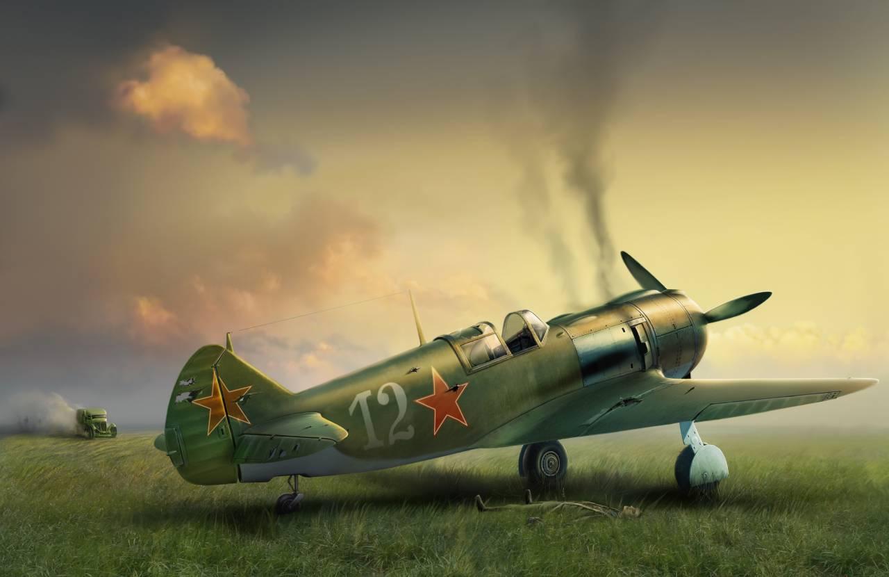 Обои война, сражение, сбитый юнкерс, рисунок. Авиация foto 19