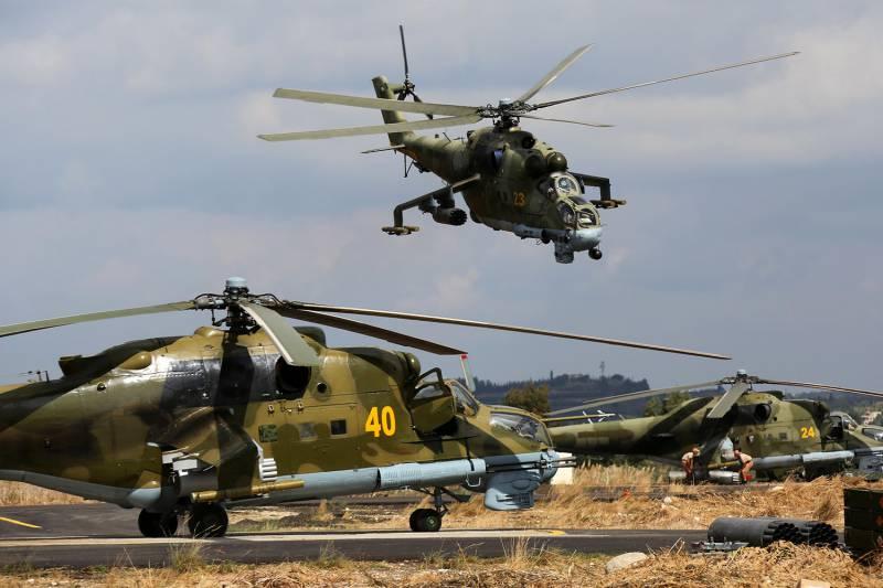 СМИ: Сирийский Ми-24 сбит в районе Пальмиры