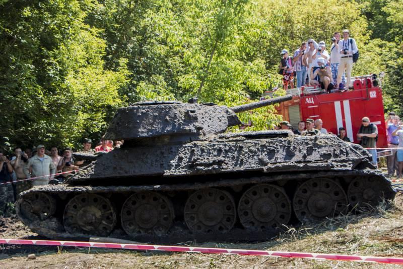 В Воронежской области подняли уникальный Т-34