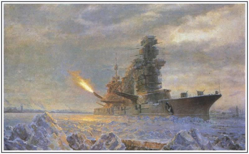 Артиллерия Балтийского флота в наступательных операциях 1944 года.