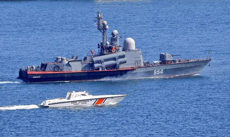 Ракетный катер «Ивановец» замечен в Средиземном море