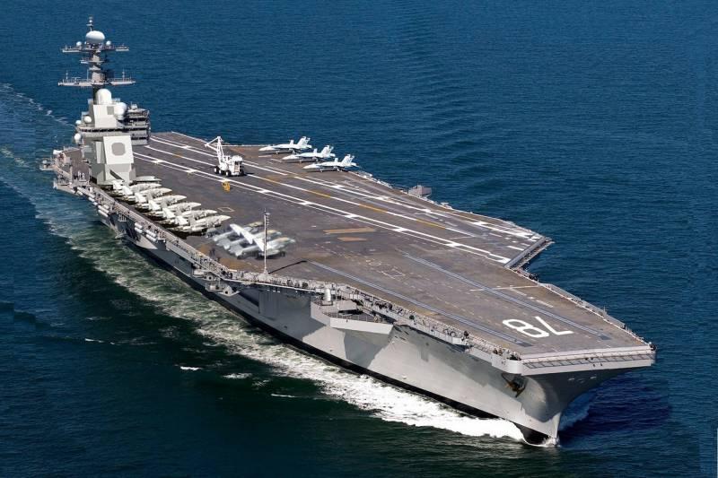 ВМС США отложили принятие на вооружение новейшего авианосца из-за выявленных проблем в ходе его эксплуатации