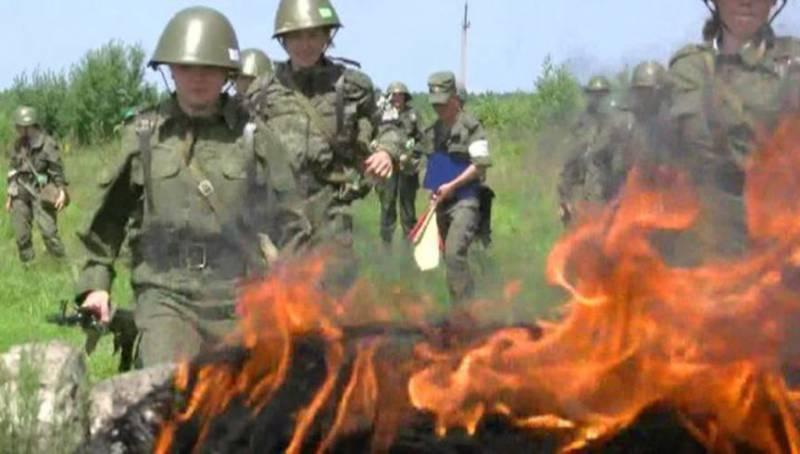 В Хабаровском крае проходит учение женского батальона