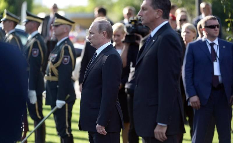 Российский президент открыл в Словении памятник российским и советским солдатам