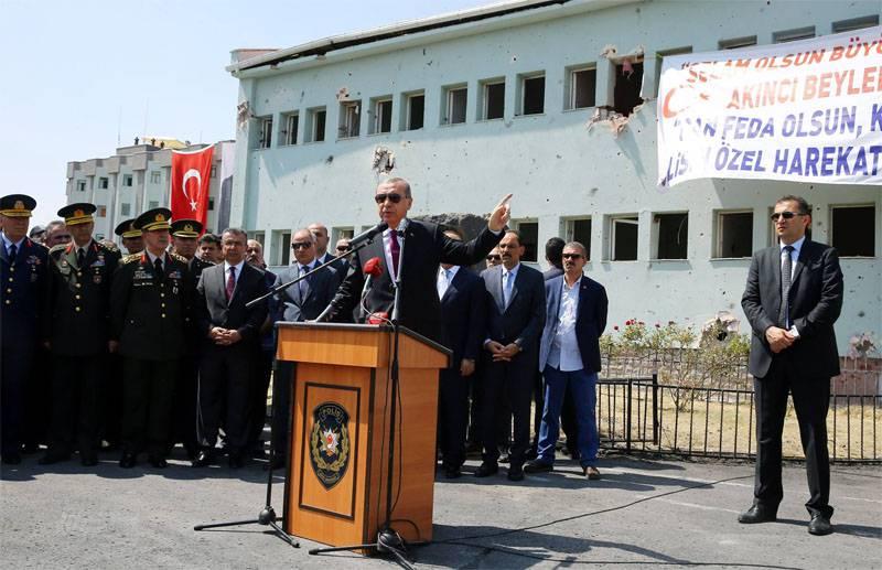 Эрдоган назвал западные страны пособниками террористов и путчистов