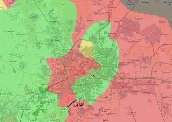 О ходе операции в Алеппо