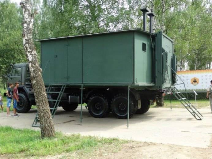 Кухня-столовая для российской армии
