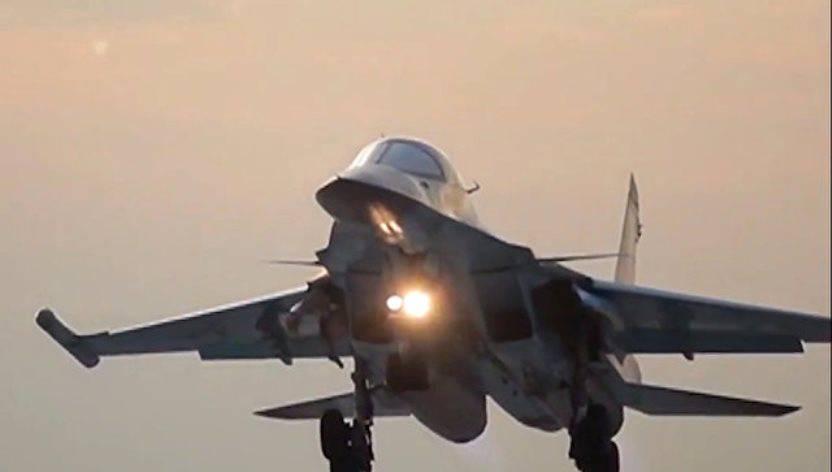 Су-34 атаковали условного противника под Воронежем