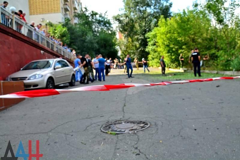 В Донецке прогремел взрыв у дома, в котором проживает Моторола