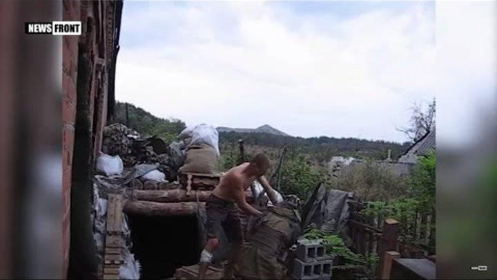 Военнослужащие ВСУ атаковали позиции ополченцев из рогатки