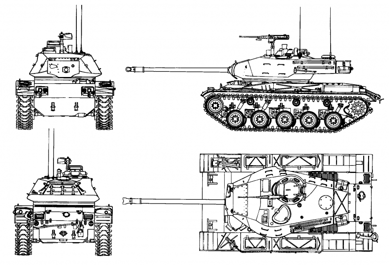 Лёгкий танк M41 Walker Bulldog