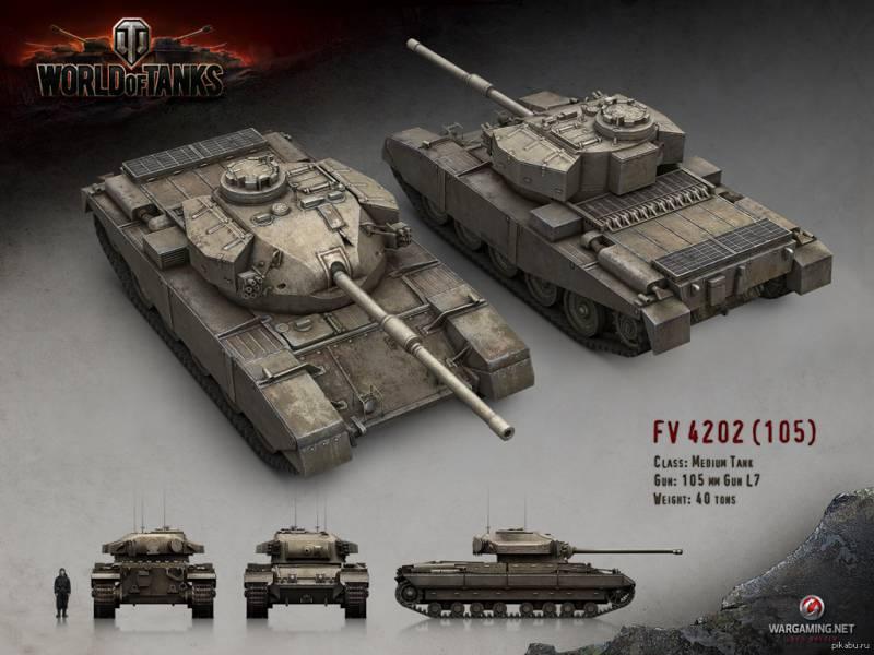Британский средний танк FV4202 (проект)