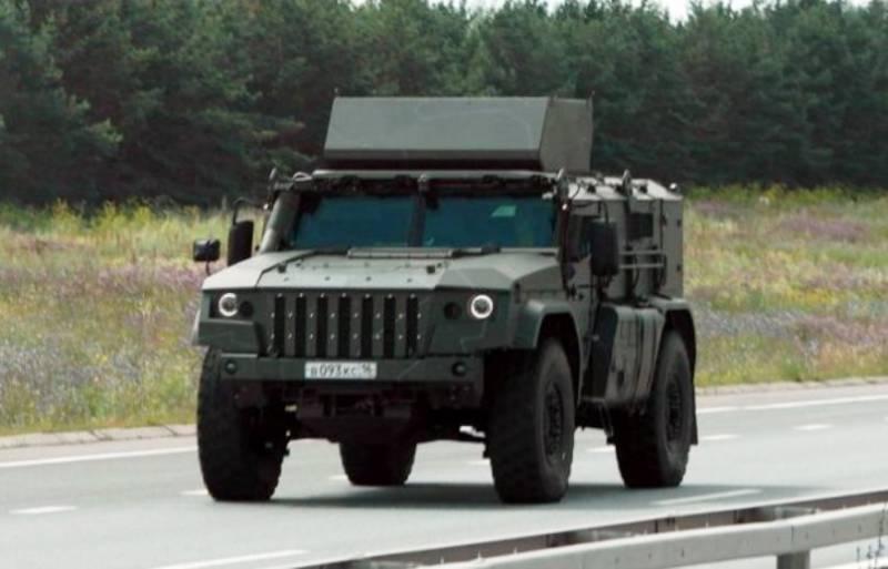 Под Набережными Челнами замечены новейшие бронеавтомобили «Тайфун-ВДВ»