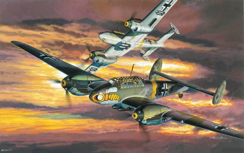 Мессершмитт Bf-110 – плохой истребитель, но лучший штурмовик Люфтваффе