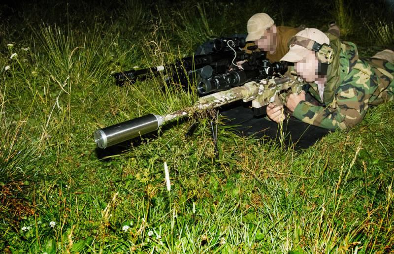 Работа русского снайпера: как стреляют ночью