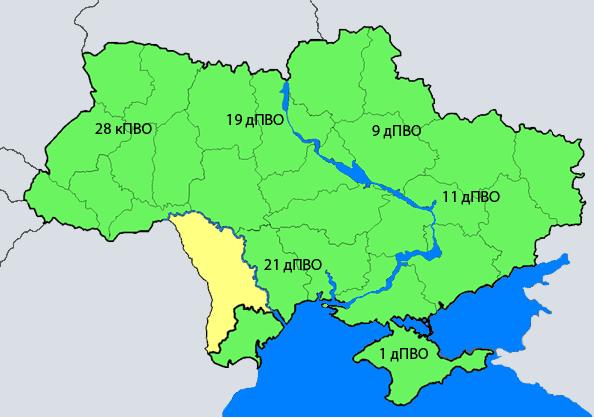 Современное состояние ПВО стран - бывших советских союзных республик. Часть 2-я