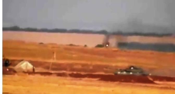Самодельные экраны не спасли Т-72 сирийских курдов