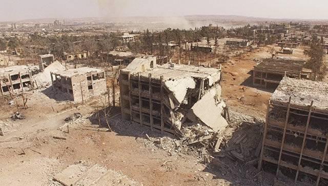 Российский офицер был вынужден прервать онлайн-доклад из Алеппо из-за обстрела боевиков
